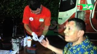 عضو بالوفد:يتبرع بالدم للقوات المسلحة