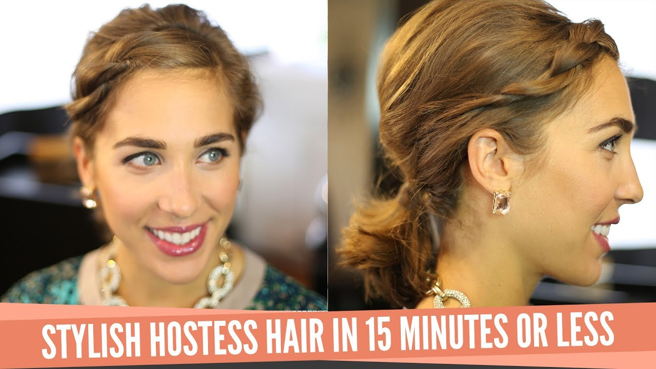 stylish hostess hair in 15 minutes or less - youtube