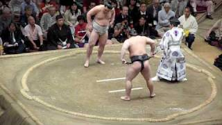 Sumo - Harumafuji defeats yokozuna Asashoryu