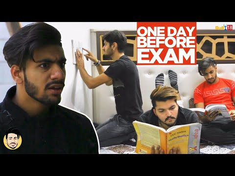 a day before the exam If you've prepared well for the exam, the night before the exam shouldn't be too stressful in fact, you should be able to relax a little and you should also have time to get organised for the big day.