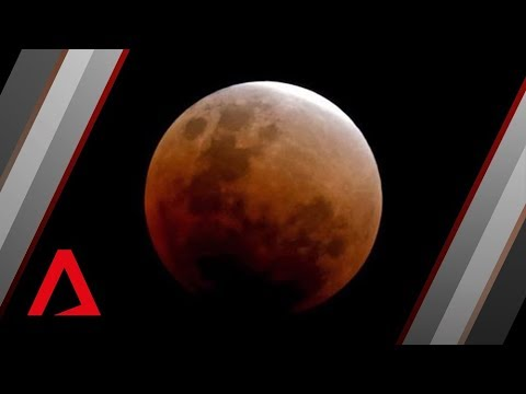 Super blue blood moon in Singapore