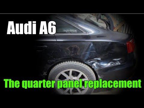 Audi A6. The quarter panel replacement. Замена заднего крыла.