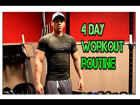 4 Day Split – Muscle Mass Building Workout 4 Days On, 1 Off