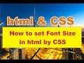 how to set font size in html by css | make a website by html and css