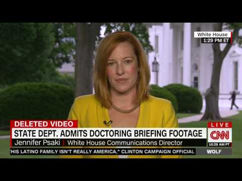 Wolf Blitzer hammers Jen Psaki on State Department lies over briefing video deletion