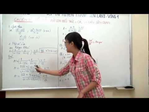 [TOÁN] Rút gọn biểu thức và các bài toán liên quan part 1