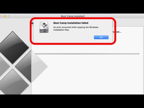 Bootcamp Fails to Install Windows 10 - Error Copying Windows Installation  Filles - OS Mojave