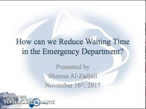 How to Reduce Waiting Time In Emergency Department