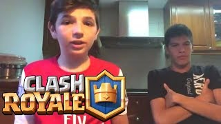 OPENING CHESTS IN CLASH ROYALE WITH MY BROTHER-IN-LAW