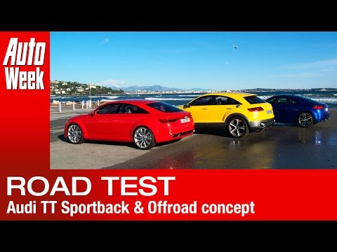 Audi TT Sportback & Offroad Concept road test - English subtitled