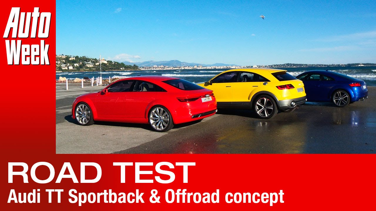 audi tt sportback & offroad concept road test - english subtitled