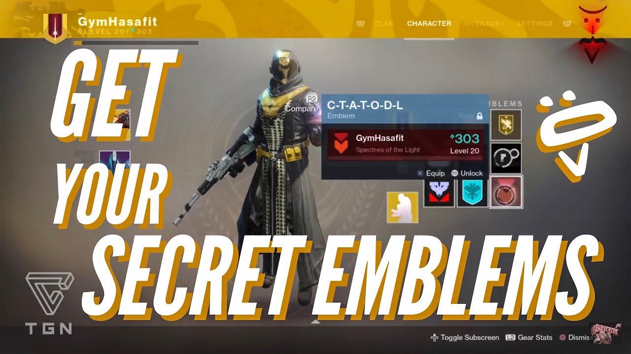562b852b577 Destiny 2  How to get the Secret Emblems Guide - YouTube