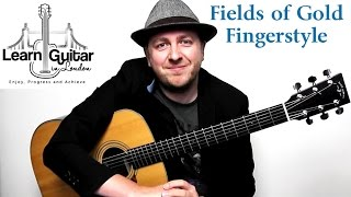 Fields Of Gold - Fingerstyle Guitar Tutorial - Sting - Part 1 - Drue James