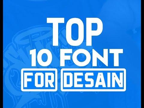 TOP 10 Font Untuk Desain