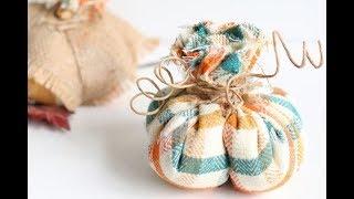 DIY Stuffed Fabric Pumpkins Tutorial