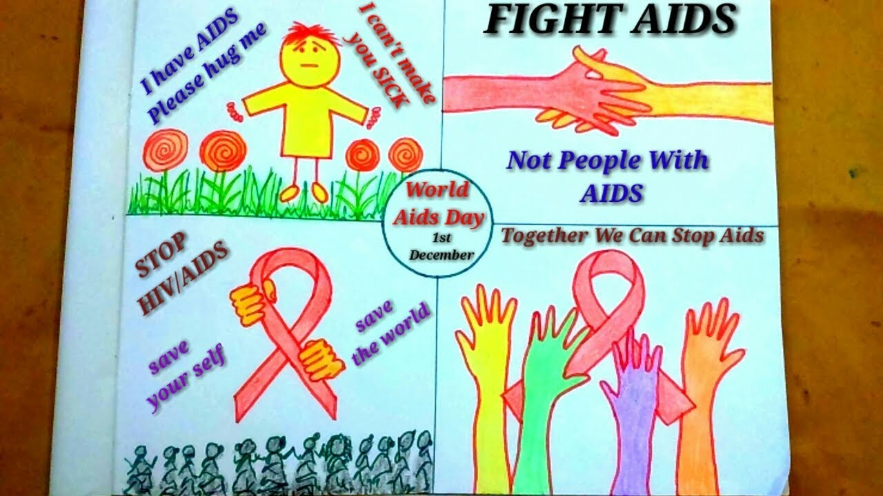 How to draw world aids day drawing|World aids day poster ...