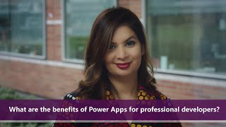What are the benefits of Power Apps for professional developers? | One Dev Question: Dona Sarkar