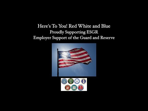 Here's To You! Red White and Blue - Proudly Supporting ESGR