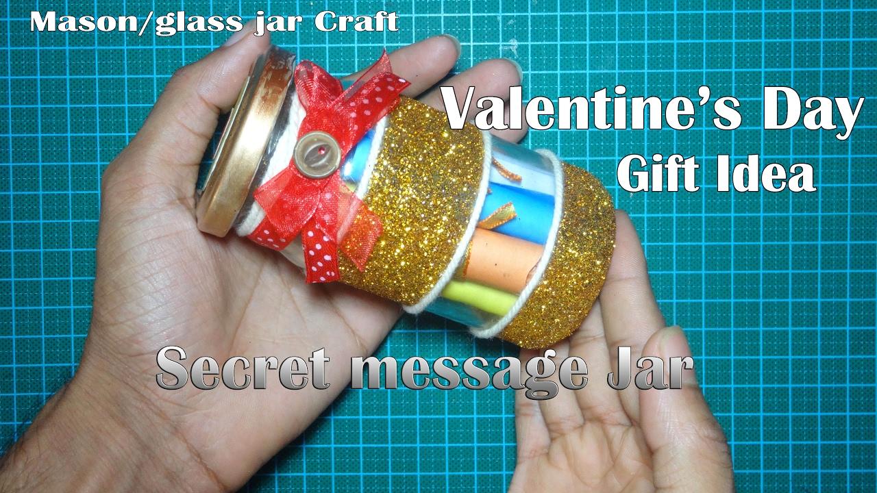 Diy Secret Message Jar Valentine S Day Gift Idea Youtube