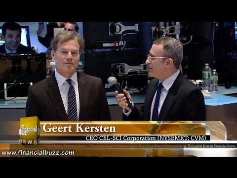 Exclusive Interview with CEL-SCI Corp. (NYSEMKT:CVM) CEO Geert Kersten from the floor of the NYSE