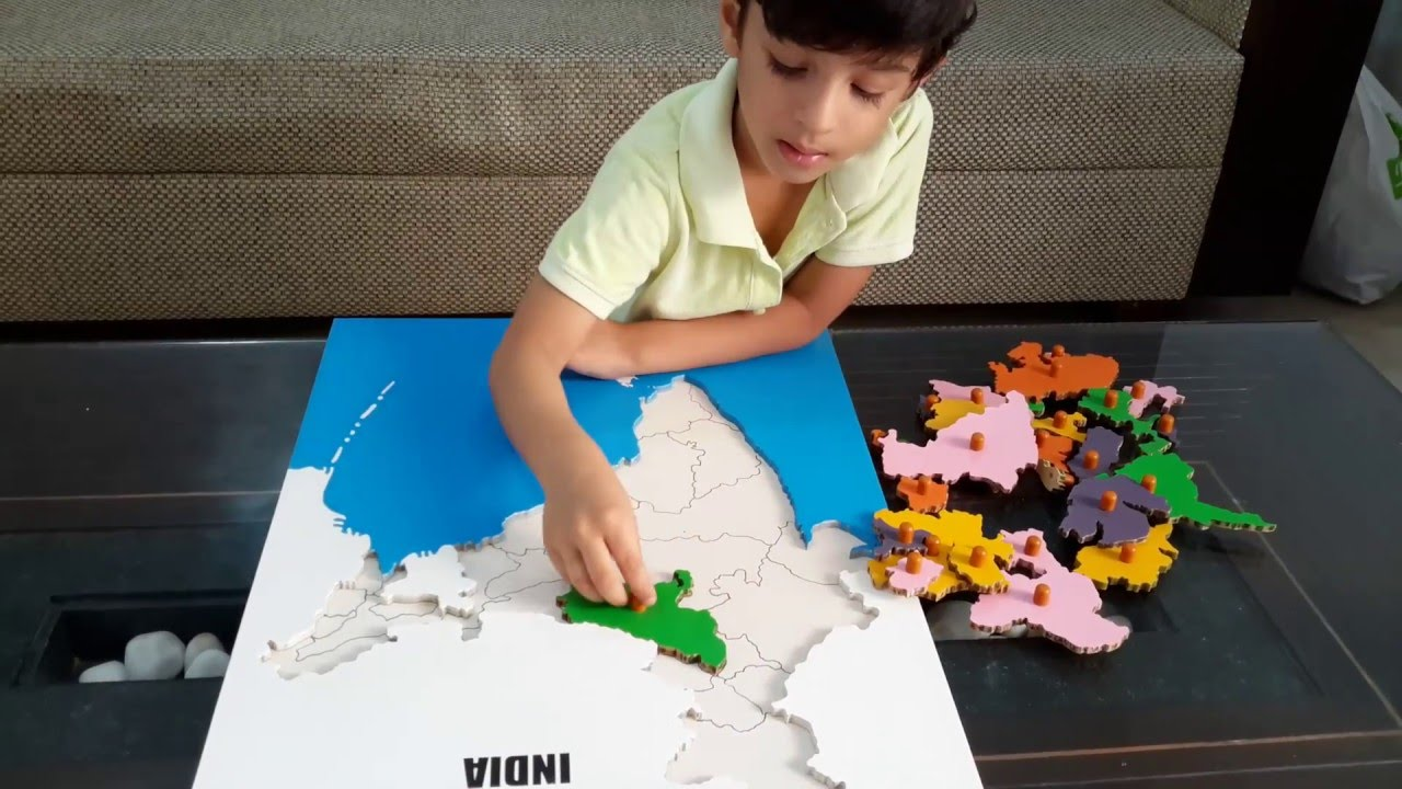 Mokshs geography activity 5 identifying states of india a mokshs geography activity 5 identifying states of india a montessori puzzle youtube gumiabroncs Images