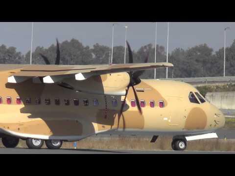 (EXOTIC) CASA CN295M Egypt Air Force 125  takeoff Seville/LEZL