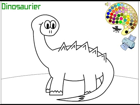 Dinosaur Coloring Pages For Kids - Dinosaur Coloring Pages - YouTube