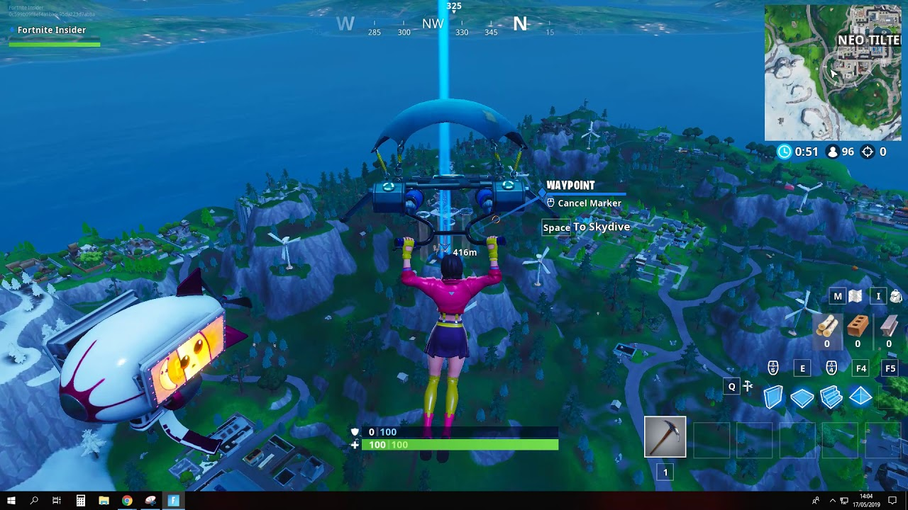 Fortnite Season 9 Fortbyte 64 Location Accessible By Rox On Top Of