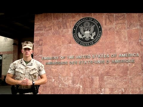 Marine Security Guards On Call 247 protecting the Embassy - YouTube