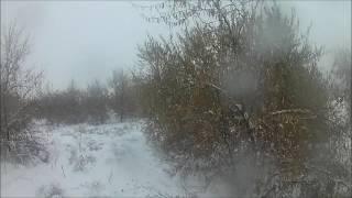 Охота с пневматикой в снег день первый. Хатсан 125.