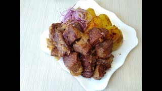 Нереально вкусно! Картошка с мясом هو غير واقعي لذيذ! البطاطا مع اللحم