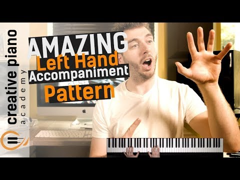 Left Hand Piano: A BEAUTIFUL left hand accompaniment pattern for piano