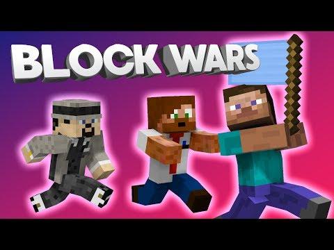 DE TAR VÅR FLAGGA! | Minecraft Block Wars