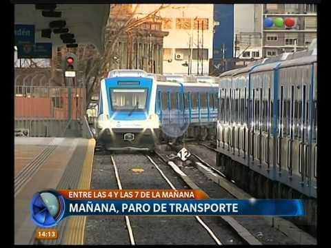 Mañana, paro de transportes - Telefe Noticias