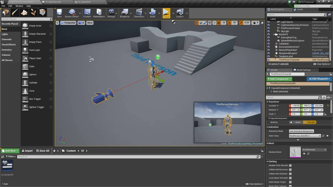 Unreal Engine 4 - Creating the Game HUD (Part 2)