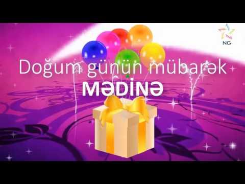 Doğum günü videosu - MƏDİNƏ