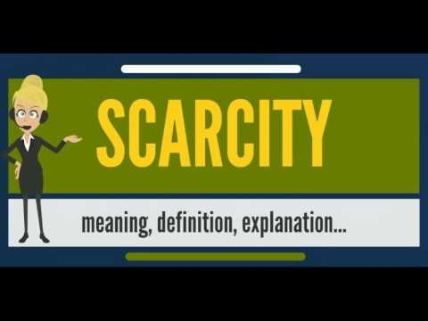 What is SCARCITY? What does SCARCITY mean? SCARCITY meaning - SCARCITY definition & pronunciation