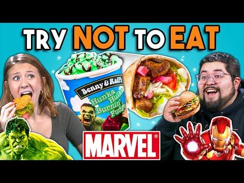 Try Not To Eat Challenge - Marvel Food | People Vs. Food - Ruslar.Biz