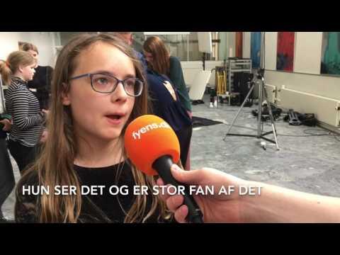 5B på Haarby Skole med til at lave Ultra Nyt
