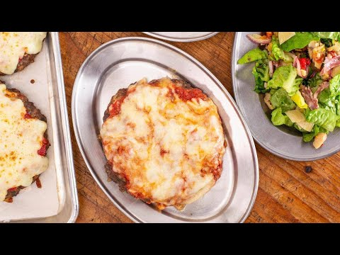 How To Make Meatball Patty Parm And Antipasti Salad By Rachael