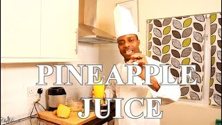 Best Fresh Pineapple Juice At Home For Summer | Chef Ricardo Cooking