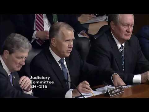 Senator Tillis Opening Statement at Supreme Court Nominee Neil Gorsuch Hearing