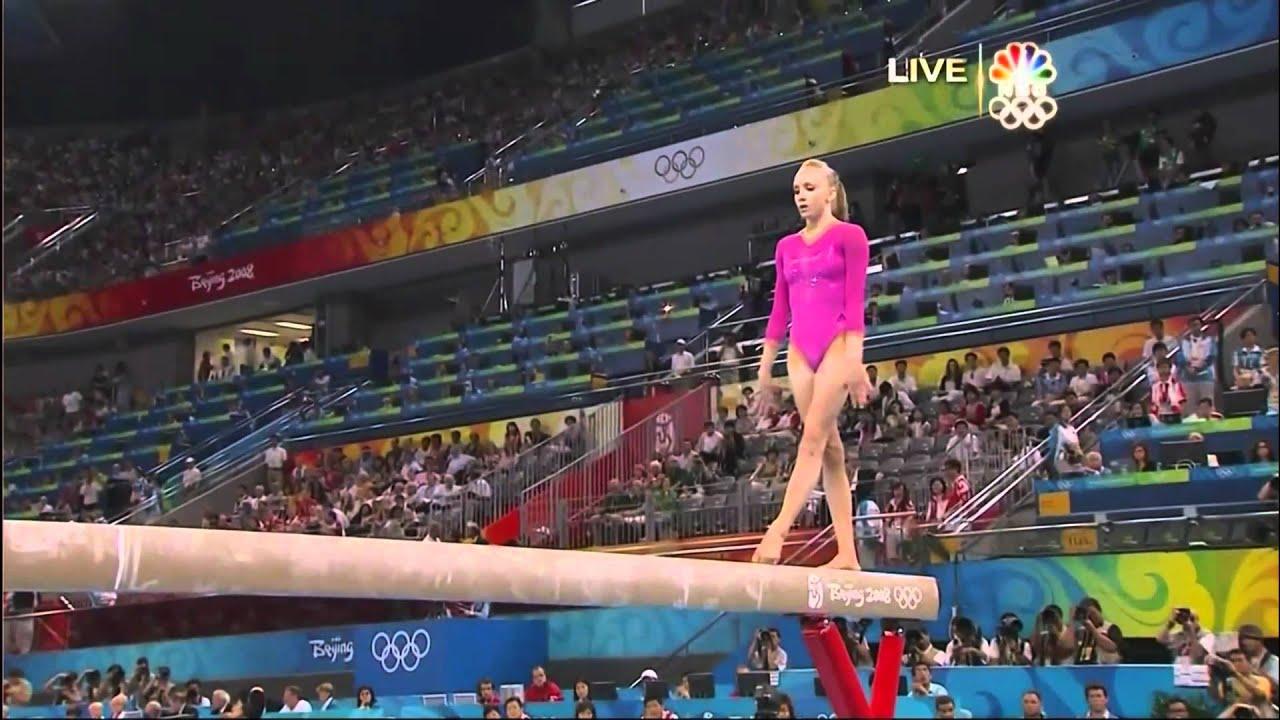 Girls Working Out Wallpaper Nastia Liukin Balance Beam 2008 Olympics All Around