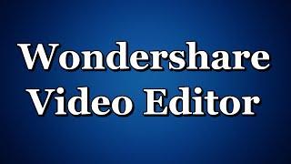 wondershare Video Editor как улучшить качество видео убрать чёрные полосы урок 3