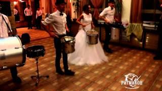 Шоу барабанщиков РИТМИКОН постановка номера на свадьбу