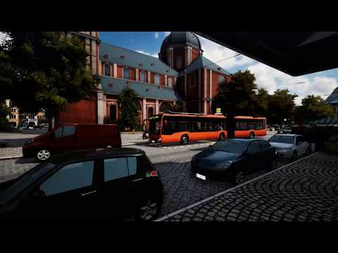 Bus simulator 18 in V.R - Take another day job with articulated bus in the city center |
