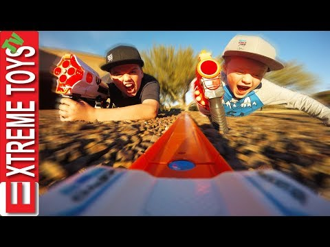 Mission Escort the Hot Wheels Car! Ethan and Cole Bunkr Nerf Mayhem!
