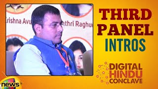 Digital Hindu Conclave LIVE | Third PANEL Introductions | Bharat Niti | Hyderabad | Mango News
