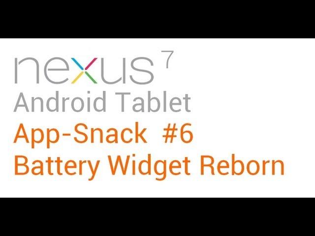 Tablet Apps: #6 Battery Widget Reborn - Nexus 7 Asus Transformer Prime (TF201, TF300, TF700)