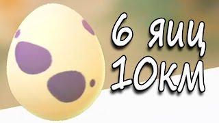 А что в яйцах? Вылупление 6 яиц по 10 км Покемон Го Выпуск 133